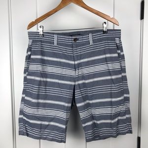 Banana Republic 35 chambray striped shorts